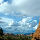 Clouds over Sandstone Spires